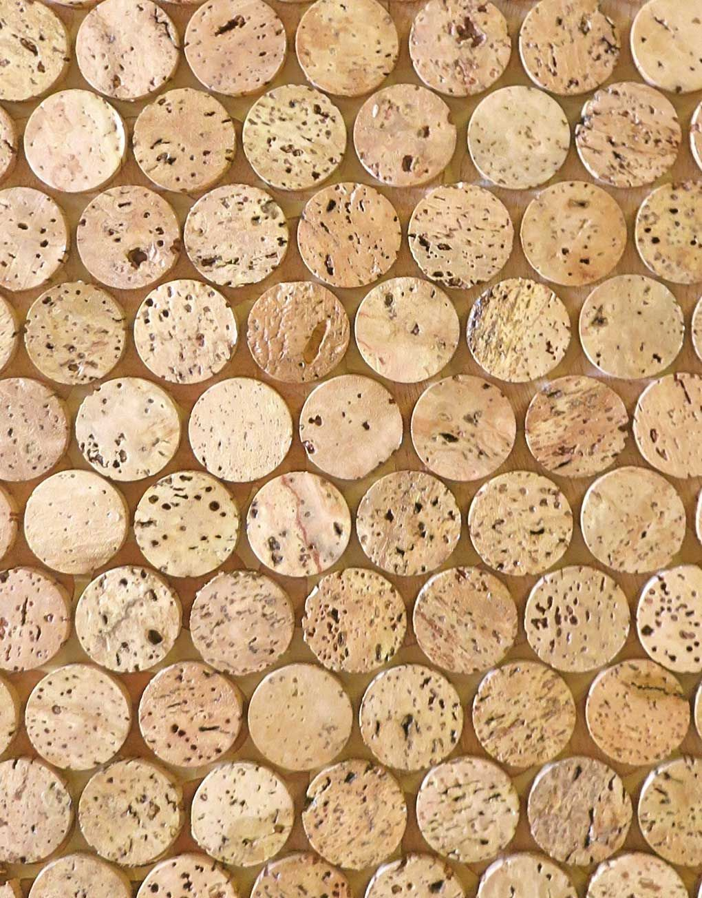 Sustainable Mosaic Cork Tiles Penny Round Tiles Round Tiles Mosaic Flooring