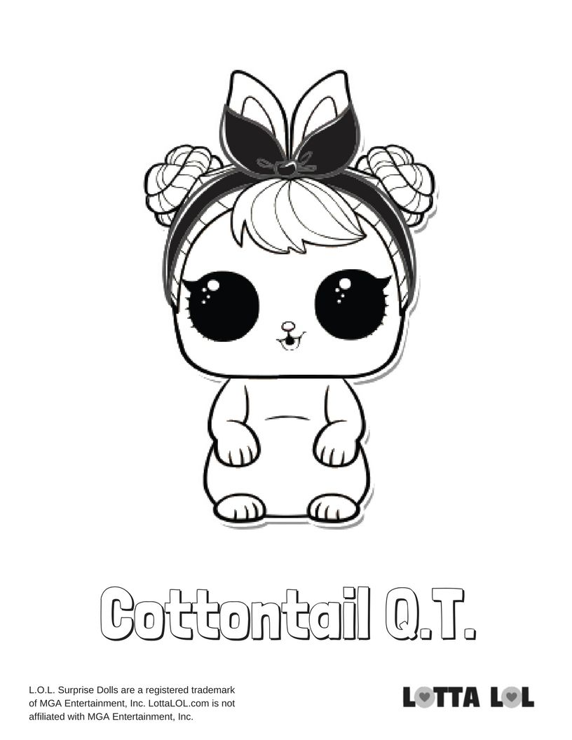 Cottontail QT Coloring Page Lotta