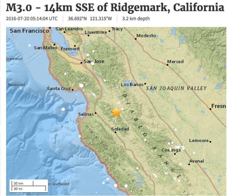 Earthquake swarm continues in south bay near hollister geology last seven days an earthquake swarm continues in the south bay area near hollister gumiabroncs Image collections