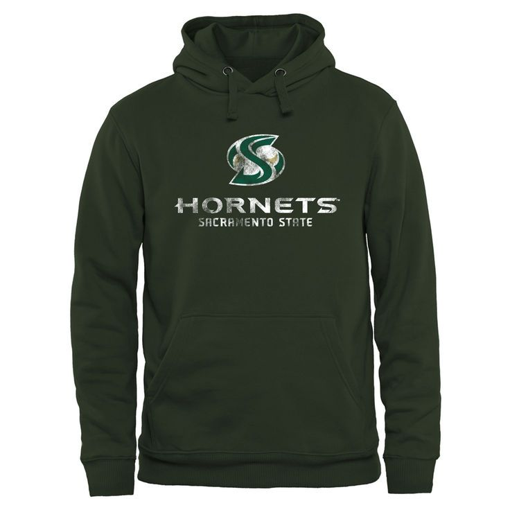 Sacramento State Hornets Classic Primary Pullover Hoodie - Green - $44.99