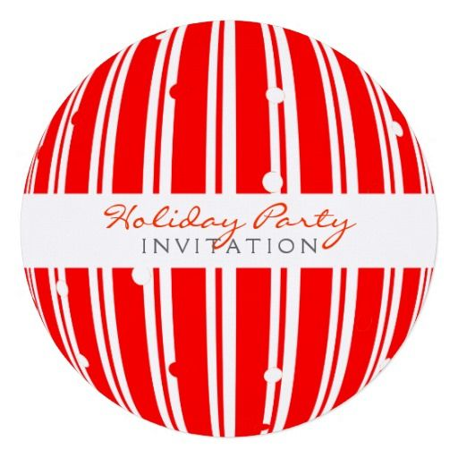 Red White Background Design Holiday Party Invitation Customize – Red Party Invitations