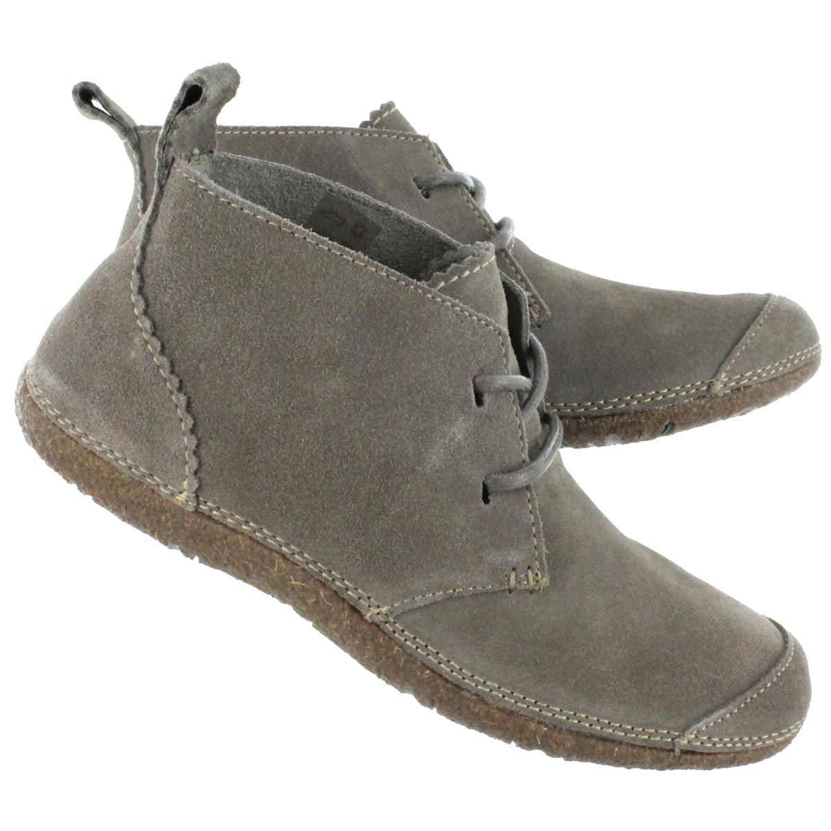 Hush Puppies Women's MINDSET taupe suede chukka boots