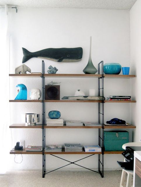 IKEA Hack Enetri Shelving Unit Walnut Wood Contact Paper Love The Industrial Look