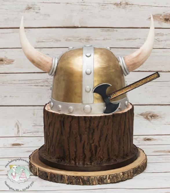Viking Hat Cake Bakingmyheartoutli Viking Party Viking Birthday Hat Cake