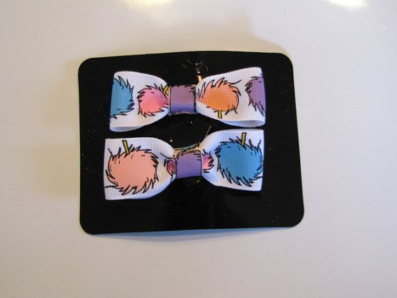 RTS Lorax Barrettes by VioletOrchidBoutique on Etsy, $4.00