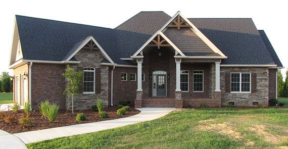 Brick and stone on pinterest acme brick brick home for Exterior brick home designs