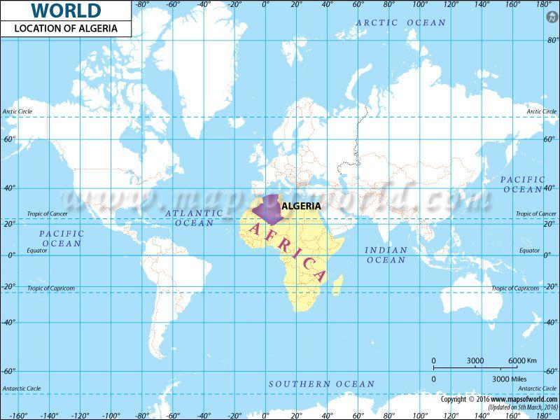 Algeria Location On World Map.Algeria Location Map World Information Pinterest Location Map