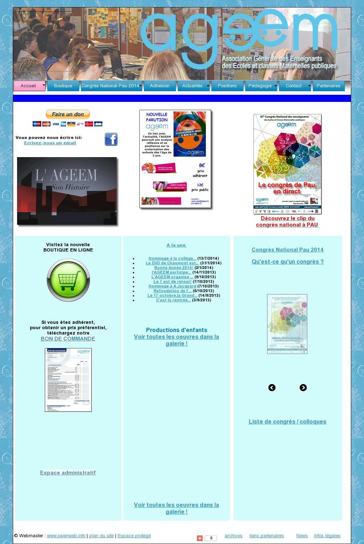 ASSOCIATION GÉNÉRALE DES ENSEIGNANTS DES ÉCOLES ET CLASSES MATERNELLES PUBLIQUES - The website 'http://www.ageem.fr/' courtesy of @Pinstamatic (http://pinstamatic.com)