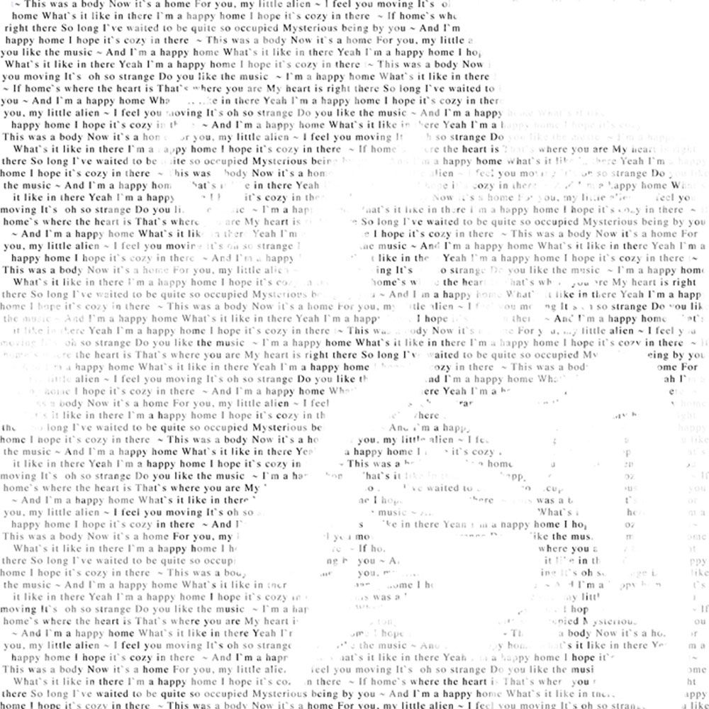 Personalised Portrait and Words Print
