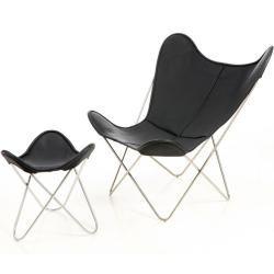 Sessel Butterfly Chair Manufakturplus schwarz, Designer Jorge Ferrari-Hardoy, 89x84x74 cm manufaktur #audir8