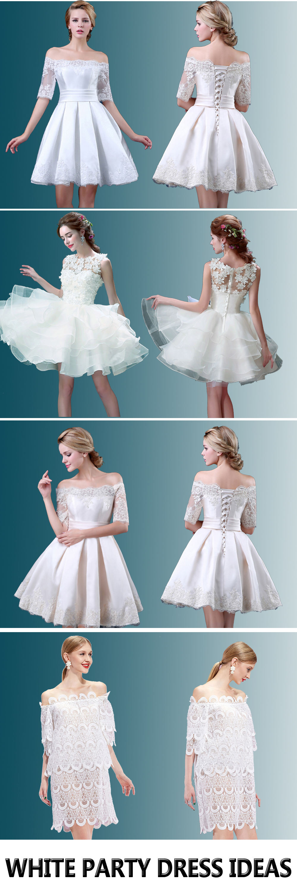 White party dresses ideas from #Choies.com! all kinds of elegant ...