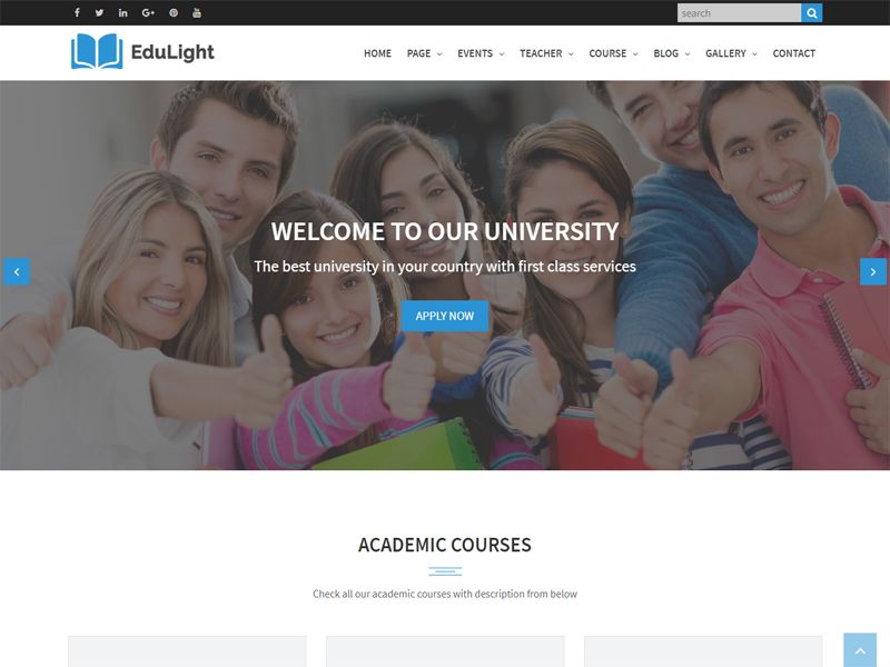 Edulight is a clean and modern education free html template this is free html template this is a nice and awesome template that can be used to build business course education event shopping classes e learning maxwellsz