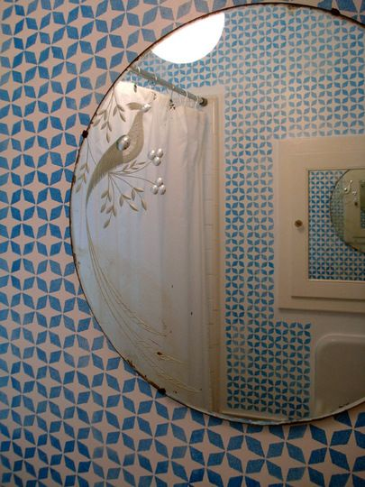 Maybe a stencil design rather than the moroccan tiles?