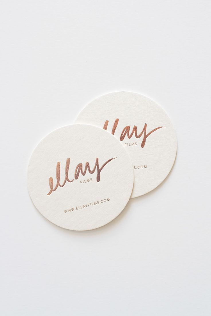 round luxe business card design   Business Cards   Pinterest ...