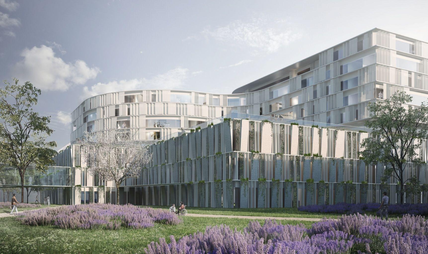 Architekt Luxemburg 3rd prize nouveau bâtiment centre in luxemburg ansicht nord