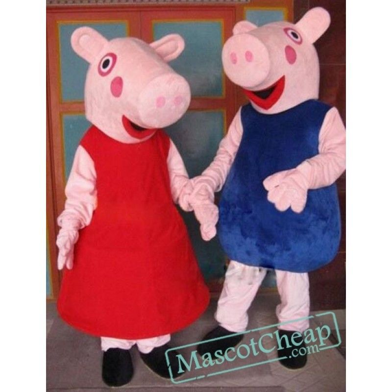 Peppa Pig Mascot Costume Free Shipping Animal Mascot Costumes