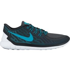 Stay true to lightweight freedom with the Nike® Men's Free 5.0 running shoe. Having the largest heel-toe drop in the Nike® free line, the 8mm offset promotes a natural stride with extra protection and comfort. The upper uses no sew overlays to reduce irritation, while flywire cables enhance support through the arch. A new Free outsole design uses deep hexagonal flex grooves for optimal responsiveness and flex.