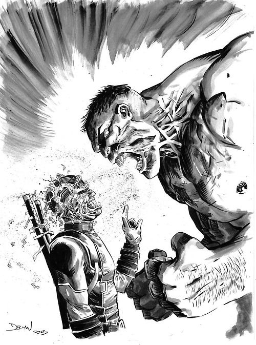 Deadpool vs Hulk by Declan Shalvey