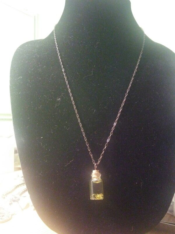 Vial of gears necklace
