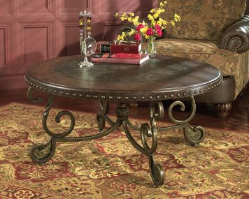 Rafferty Round Cocktail Table Set Ashley Home Gallery Stores