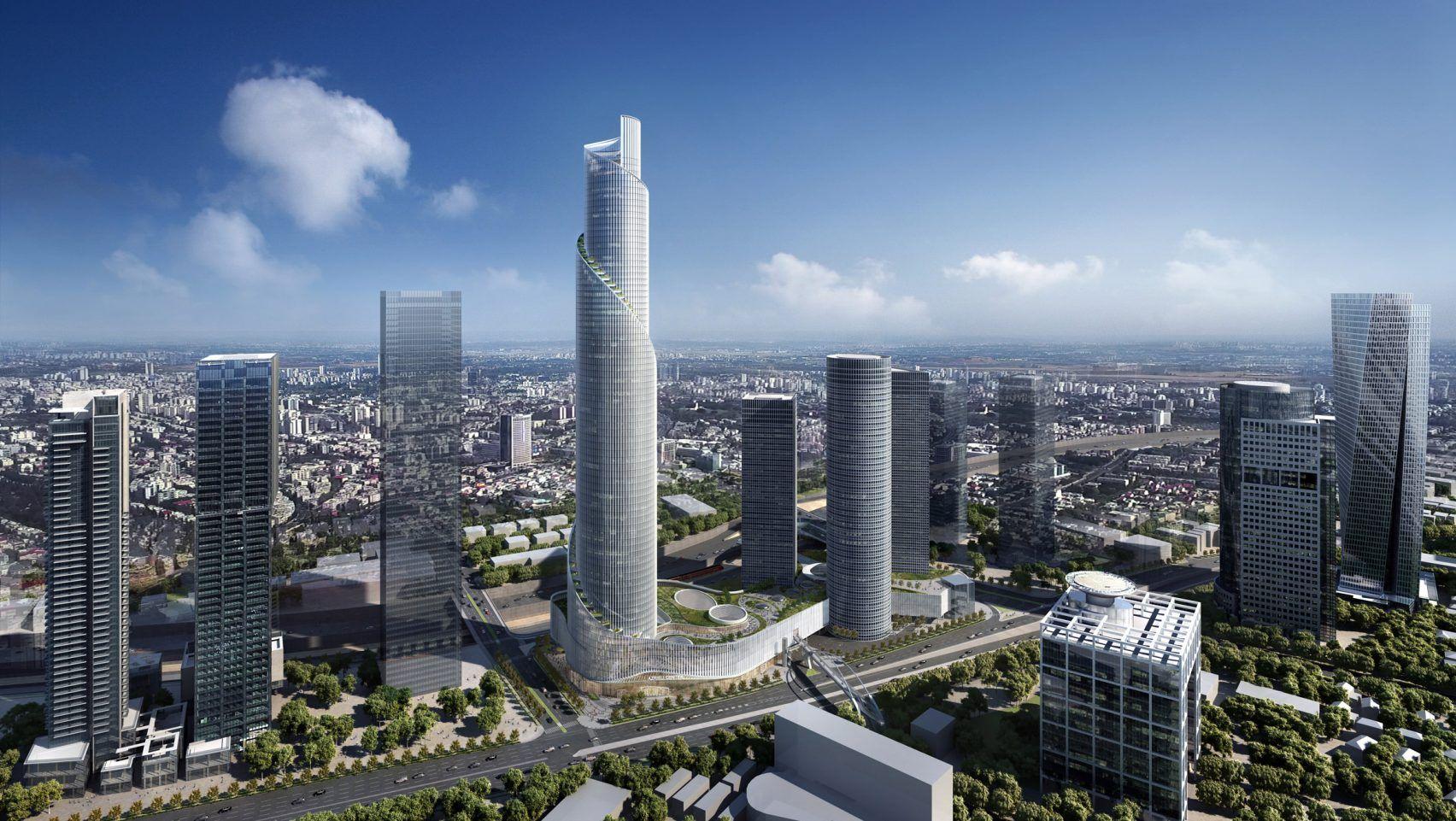 Azrieli Tower By Kpf Tel Aviv L Tallest Building In Israel
