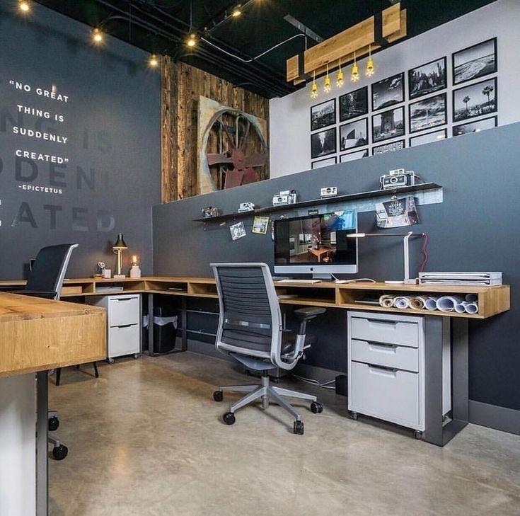 Best Modern Office Interior Design Desk Setup Ideas