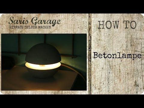 Betonlampe Concrete Lampe aus Beton DIY Kreativ-Beton - betonplatten selber machen