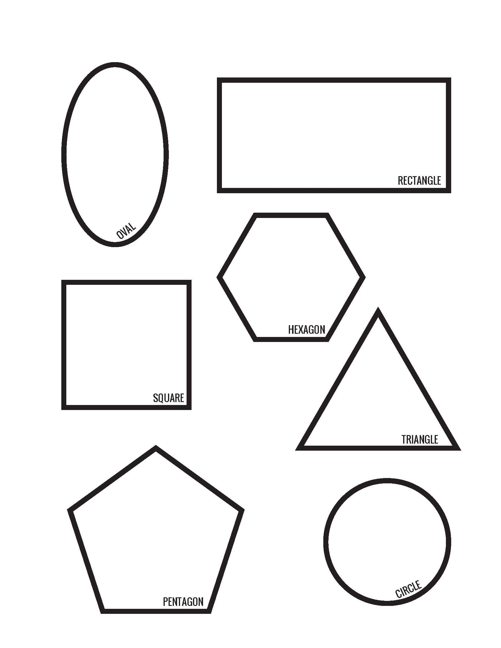 34+ Detail printable shape worksheets Awesome
