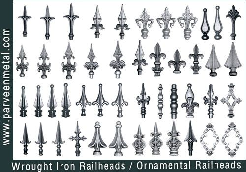 Wrought Iron Railheads Jpg 500 350 Wrought Iron Fences