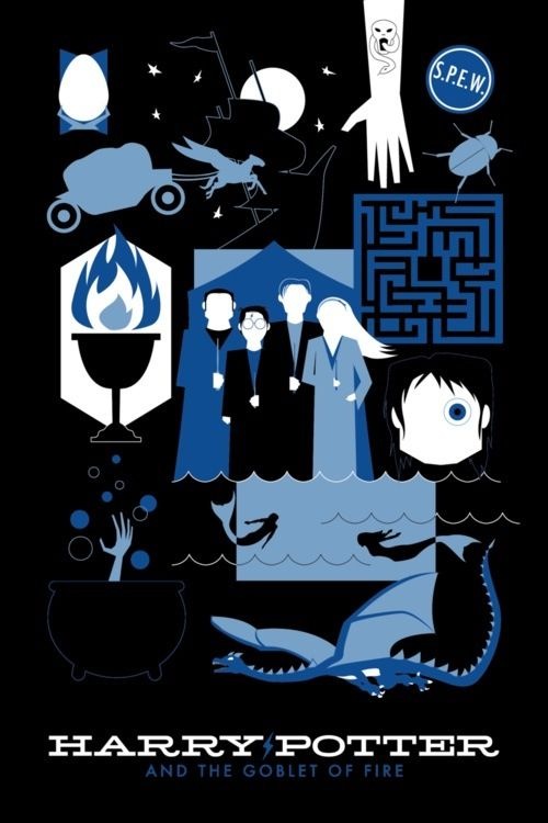 Гарри Поттер и Кубок Огня обложка плакат книга Harry ...