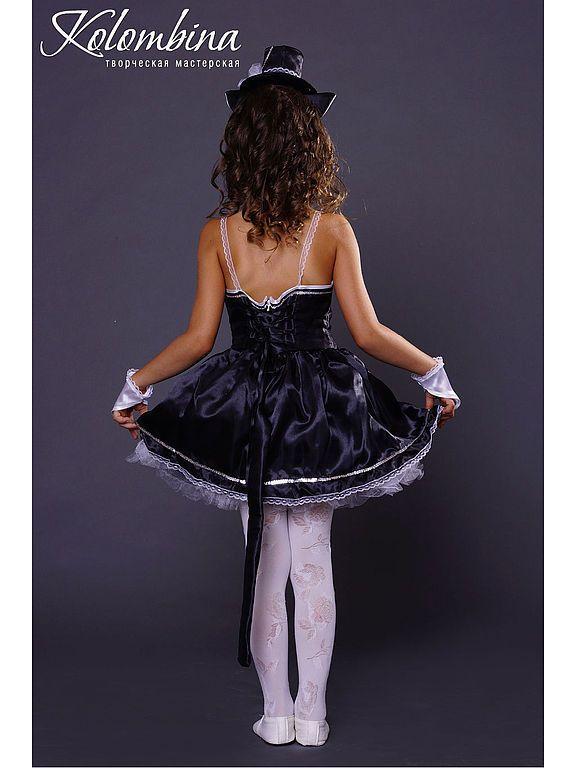 Купить карнавальный костюм кошки чёрный - чёрный, костюм ... - photo#19