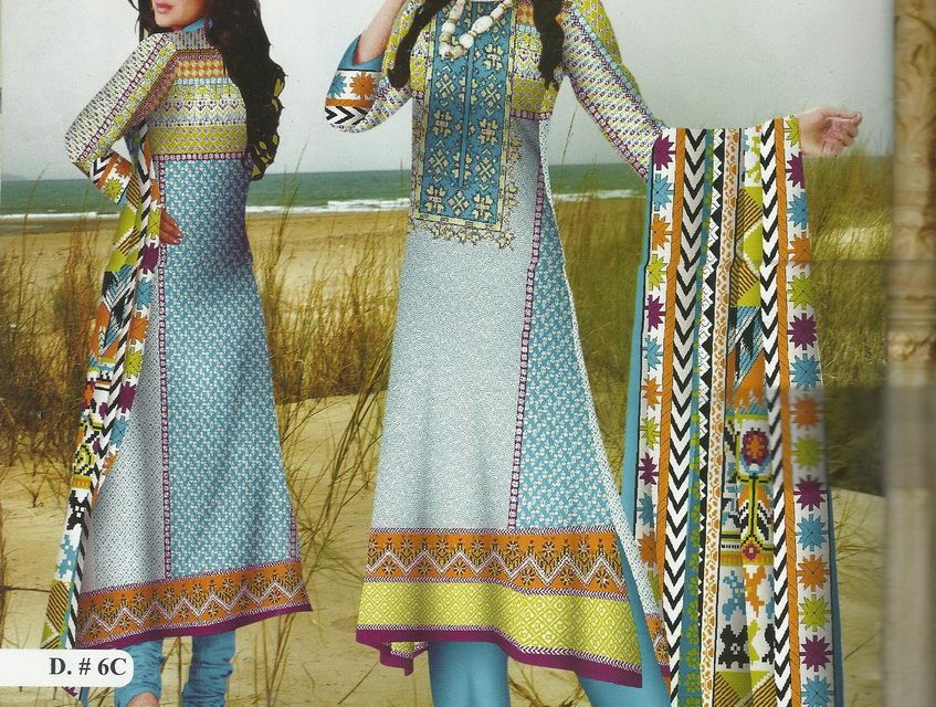 KHAADI replica 4 Piece Lawn Shirt, Cotton Shalwar, Chiffon Dupatta, Chiffon Sleeves