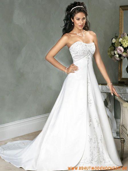Elegantes Brautkleid frankfurt Satin A-Linie online 2012 | Hochzeit ...