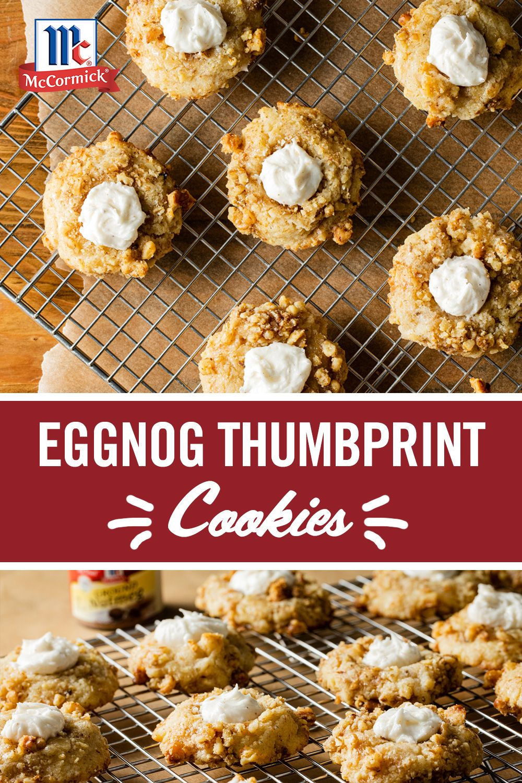 Eggnog Thumbprint Cookies Recipe Food Recipes Christmas Cooking Yummy Cookies