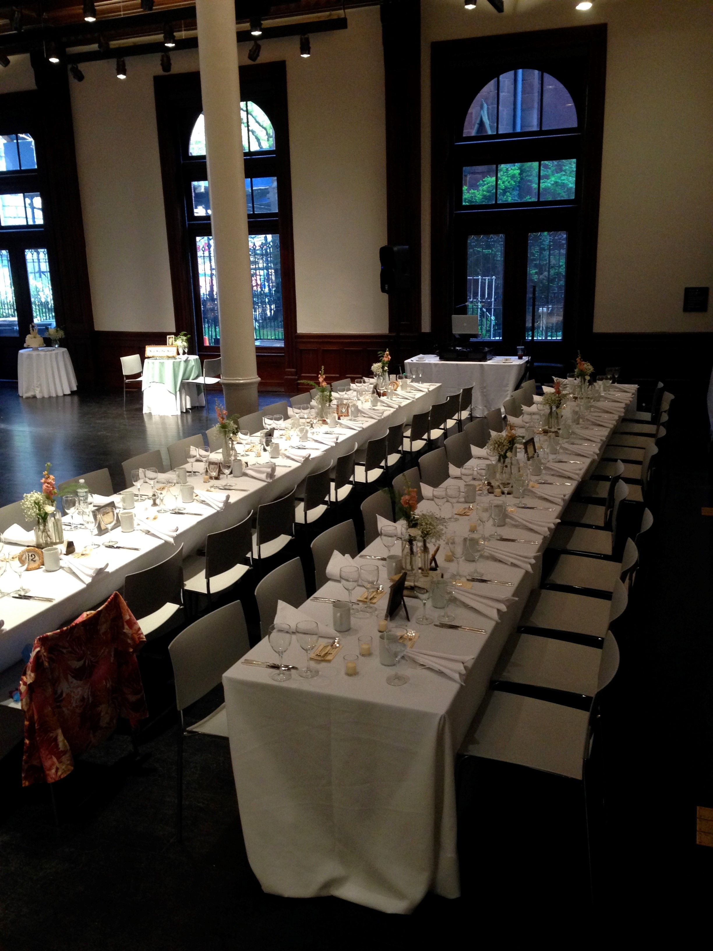Wedding Dinner Reception for 100 in Great Hall BHS provided all the tables and chairs & Wedding Dinner Reception for 100 in Great Hall: BHS provided all the ...