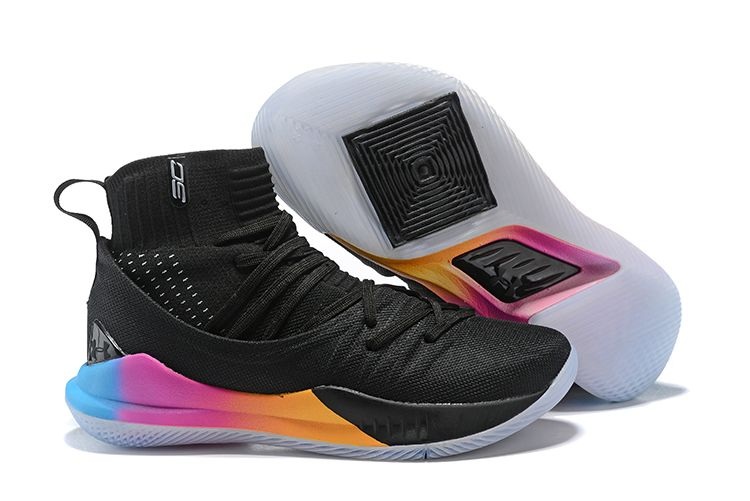 33475c926c33 UA Stephen Curry 5 Basketball Shoes Rainbow Black on www.airhuarache6.com