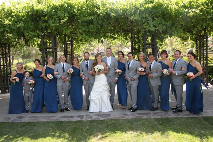 Bridesmaid Dresses And Gray Suits