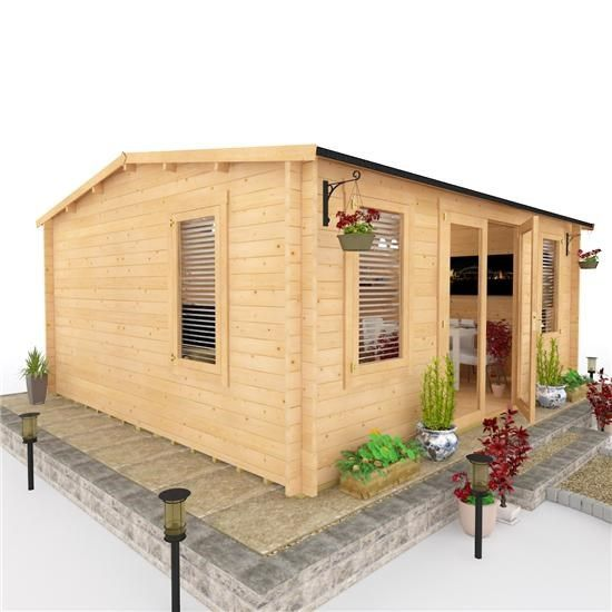 BillyOh Dorset Log Cabin - Log Cabin Summerhouses - Garden Buildings ...