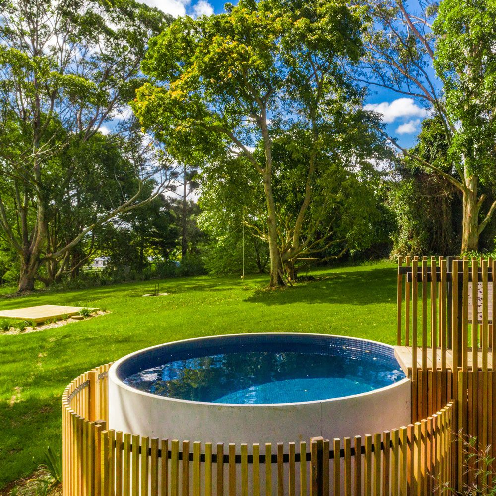 Plunge Pools Queensland Sunshine Coast And Brisbane Allcast Precast Plunge Pool Small Backyard Pools Small Pool Design
