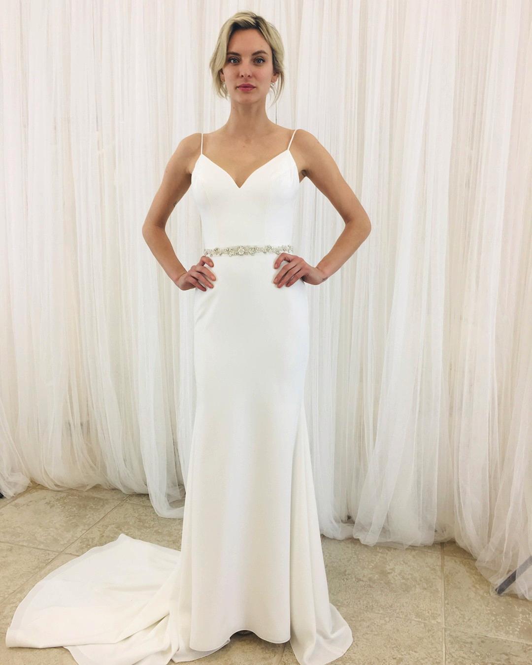 Sleek Crepe Wedding Dress Style 2261 Wedding Dress Organza