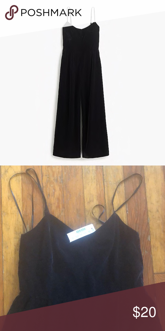 163d7f7111c4 JCrew Cropped Velvet Jumpsuit 00 NWT NWT! Style number  H2658 Size  00.  Perfect for parties. Best price on Poshmark. J. Crew Pants Jumpsuits    Rompers