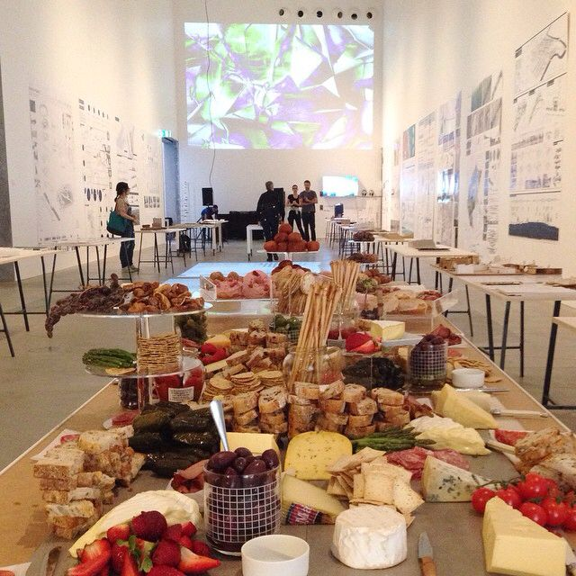 And then, we ate cheese! A very full table for RMIT with the donuts behind!! xoxo #rmit #designhub