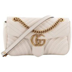ee43e67df04 Gucci GG Marmont Flap Bag Matelasse Leather Small