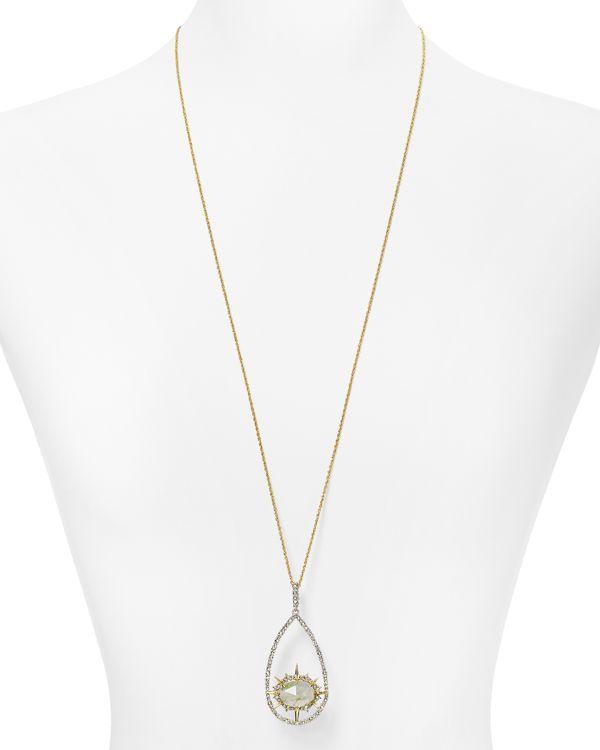 "Alexis Bittar Elements Cabochon Spike Pendant Necklace, 32"""