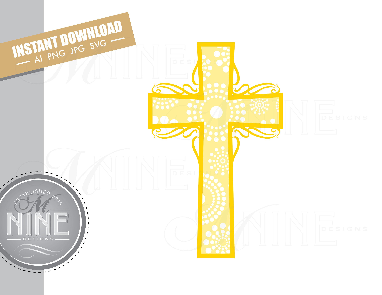 Gold Cross Clip Art Downloads Vector Gold Cross Ai Png Jpg Etsy Clip Art Downloadable Art Photo Album Scrapbooking
