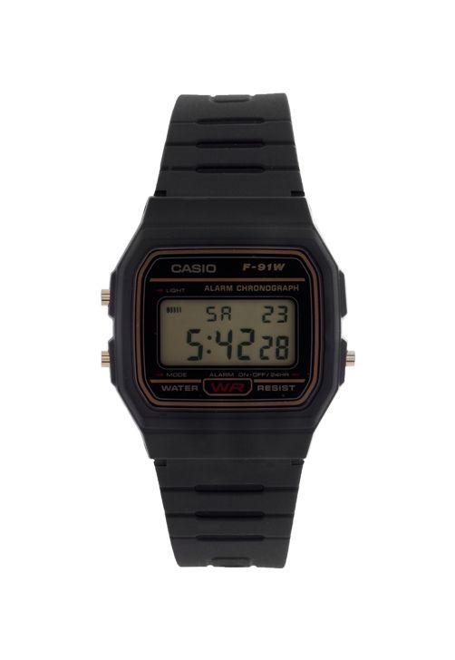 fe6d6228a3a Relógio Casio F-91W-9QDF Preto Dourado