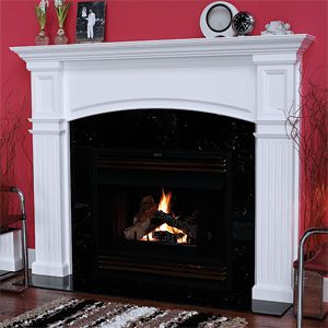 Wood fireplace and Mantels