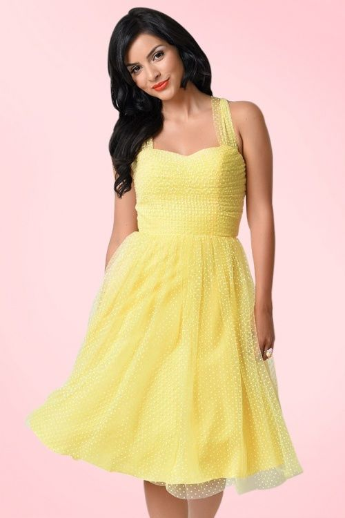 WUnique Vintage Yellow Swiss Dress 102 49 18403 3