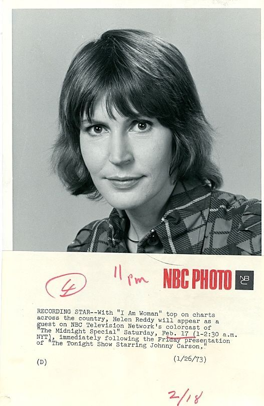 HELEN REDDY PRETTY SMILING PORTRAIT THE MIDNIGHT SPECIAL ORIG 1973 NBC TV PHOTO in | eBay