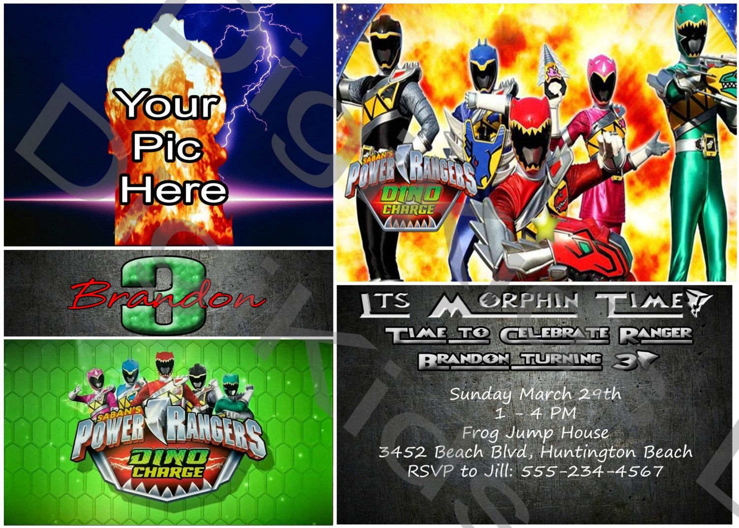 Download Power Ranger Birthday Invitations Download This